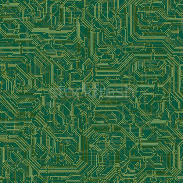 Naadloos elektrische circuit board vector circuit computer Stockfoto © Vertyr