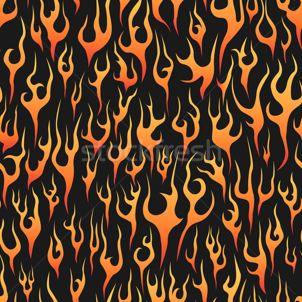 Sem costura chamas abstrato fogo preto textura Foto stock © Vertyr
