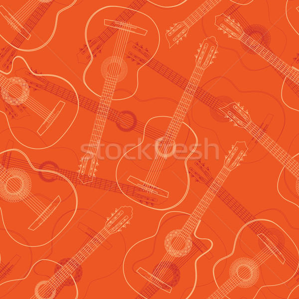 Ouest jazz flamenco guitare acoustique rouge Photo stock © Vertyr