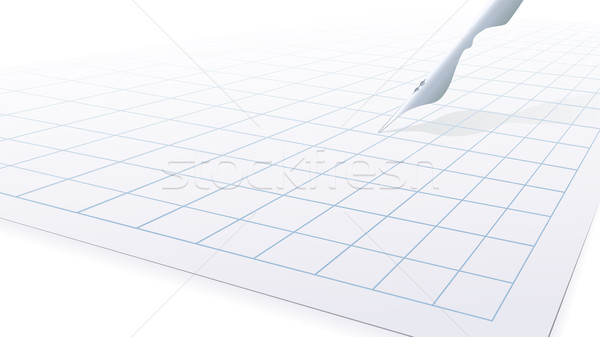 Blank piece of paper and pen. Stock photo © Vertyr