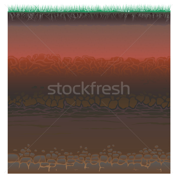 A cut of soil (profile). Stock photo © Vertyr