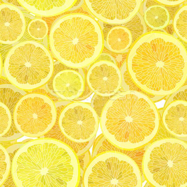 Corte agrios frutas vector sin costura alimentos Foto stock © Vertyr