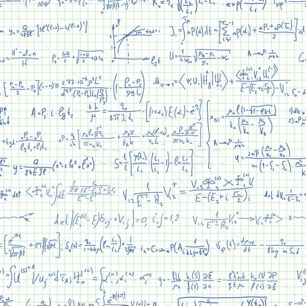 Sem costura muitos fórmulas vetor caderno folha Foto stock © Vertyr