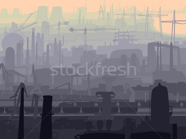 аннотация иллюстрация промышленных город утра вектора Сток-фото © Vertyr