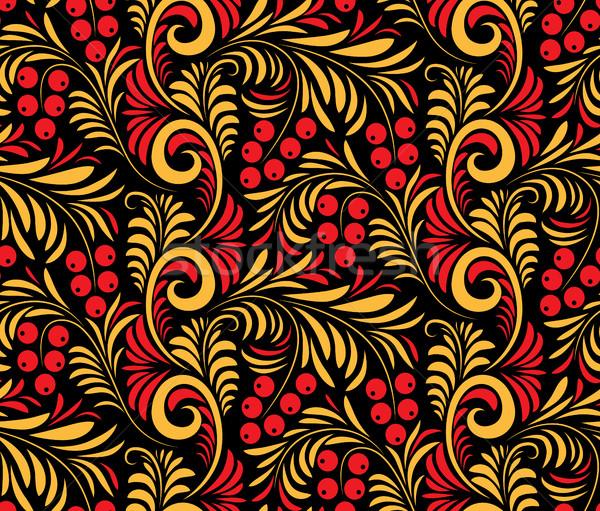 Sem costura tradicional russo pintura floral arte Foto stock © Vertyr