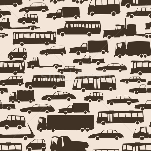Sem costura abstrato desenho animado muitos carros vetor Foto stock © Vertyr