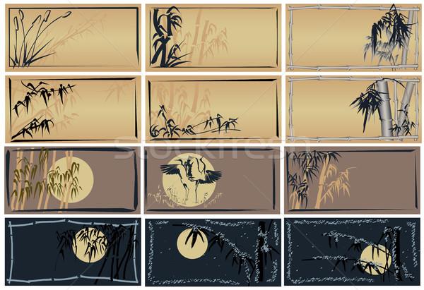 Establecer Asia espacio texto marcos Foto stock © Vertyr