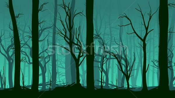Horizontal ilustração floresta vetor árvore Foto stock © Vertyr