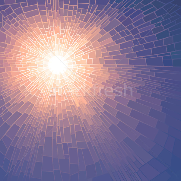 Vector illustration mosaic of sun with rays. Stock photo © Vertyr