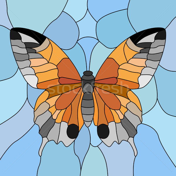 Vector of butterfly in mosaic. Stock photo © Vertyr