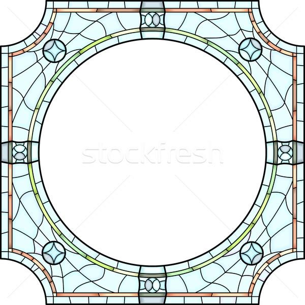Fotografie vector vierkante licht glas Stockfoto © Vertyr