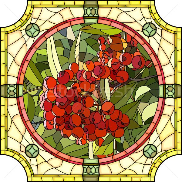 Kırmızı karpuzu dağ kül vektör mozaik Stok fotoğraf © Vertyr