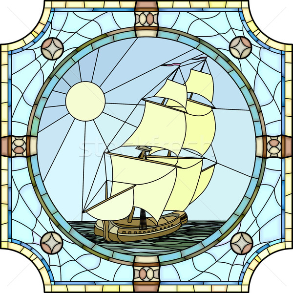 Illustration of sailing ships of the 17th century. Stock photo © Vertyr