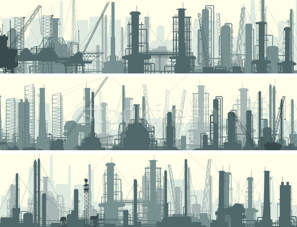 Horizontal bandeira industrial cidade vetor fábricas Foto stock © Vertyr