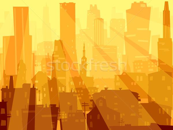 Abstrato ilustração grande cidade luz Foto stock © Vertyr