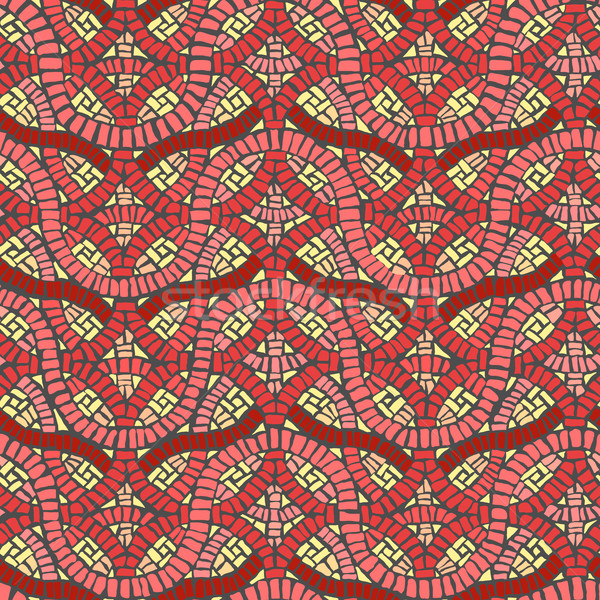 Stock photo: Seamless colored background wall of weave mosaic.
