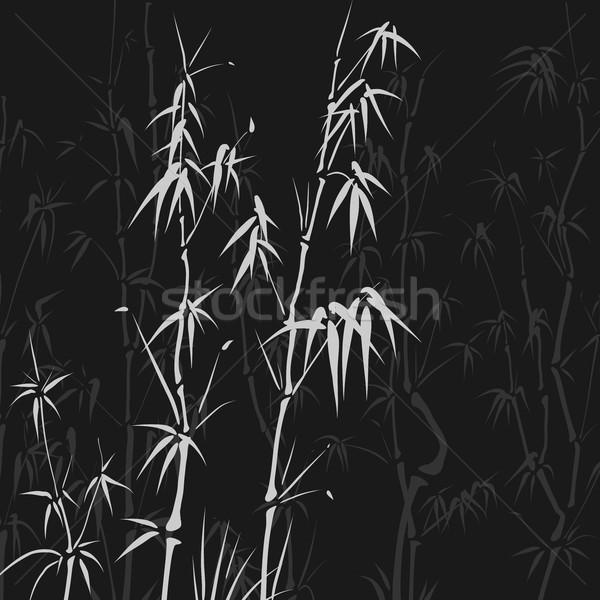 多くの 竹 アジア スタイル 広場 ベクトル ストックフォト © Vertyr