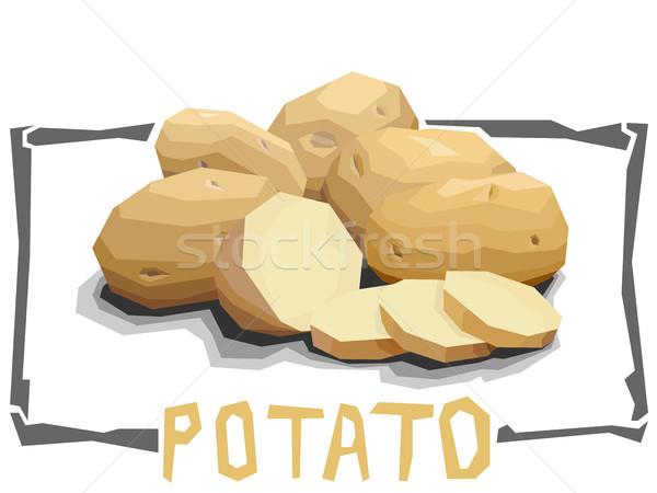 Vector simple illustration of potatoes. Stock photo © Vertyr