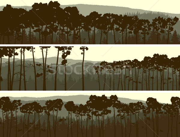 Horizontal banners abstrato hills amarelo Foto stock © Vertyr