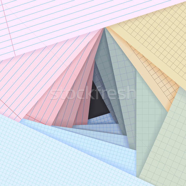 Vector lined and squared paper lie on each other. Stock photo © Vertyr