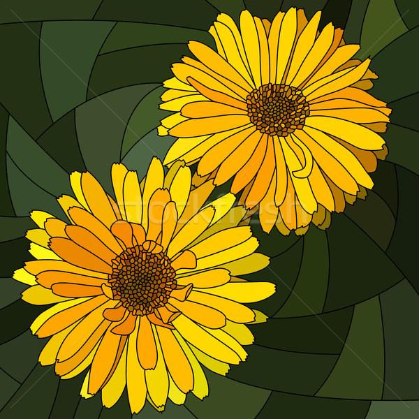 цветок желтый вектора мозаика большой банка Сток-фото © Vertyr