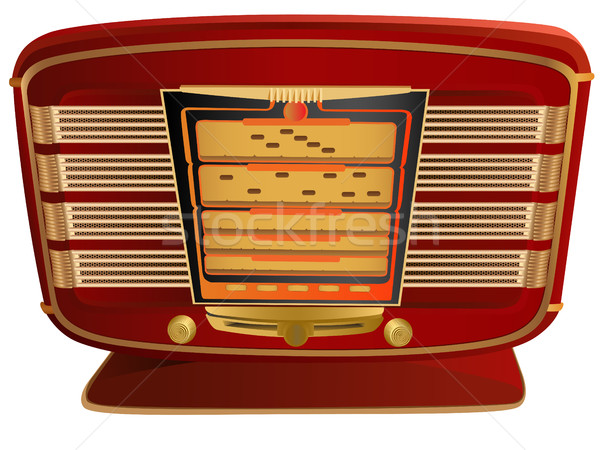 Vector illustration of red retro radio. Stock photo © Vertyr