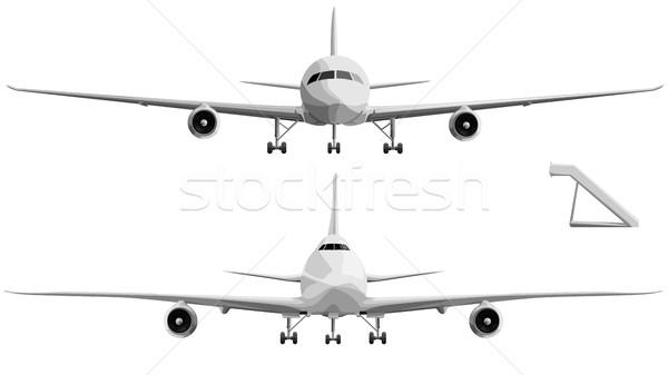 セット ビッグ 飛行機 フロント ベクトル 単純な ストックフォト © Vertyr