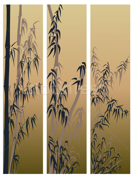Three vertical banners in asian themes(with space for text). Stock photo © Vertyr