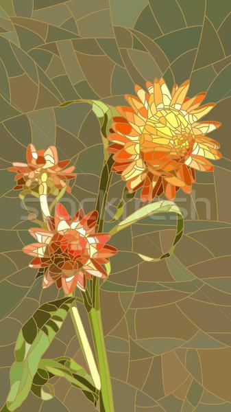 Flores amarelo vetor vertical mosaico grande Foto stock © Vertyr
