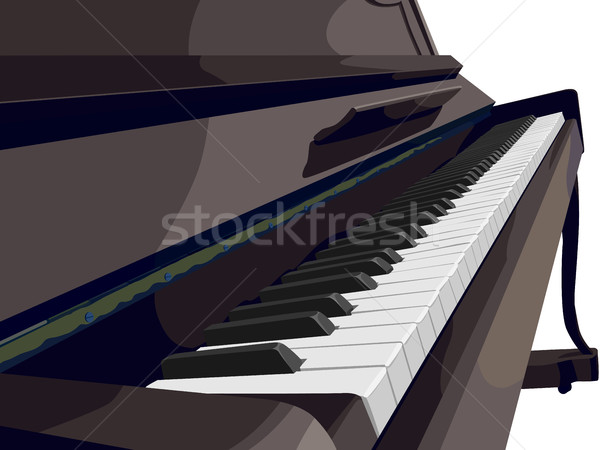 View of vertical piano sideways. Stock photo © Vertyr