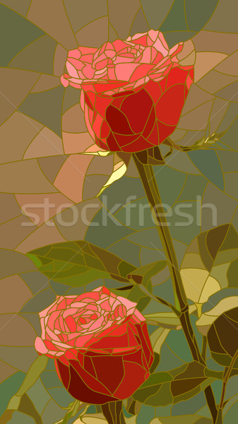 Vector illustration of flowers red roses. Stock photo © Vertyr