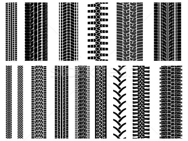 セット ベクトル パターン ホイール パターン タイヤ ストックフォト © Vertyr