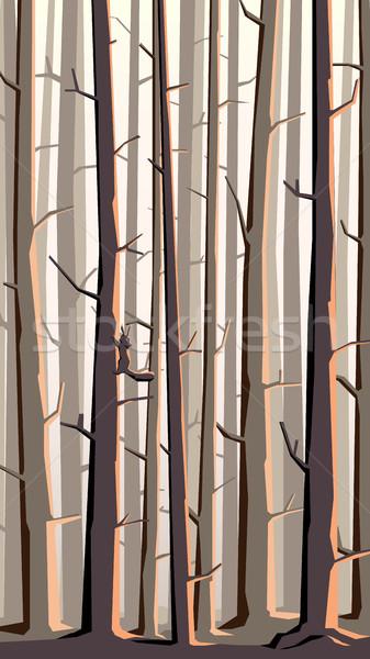 垂直 実例 漫画 森林 山 抽象的な ストックフォト © Vertyr