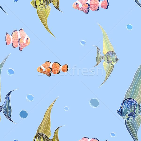 水 泡 シームレス ベクトル 長い ピエロ ストックフォト © Vertyr