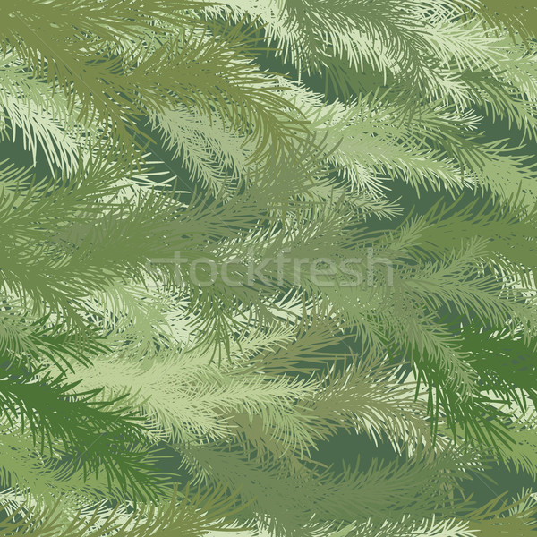 Seamless background of spruce branch. Stock photo © Vertyr