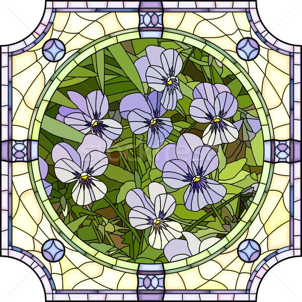 花 紫色 ベクトル モザイク ストックフォト © Vertyr