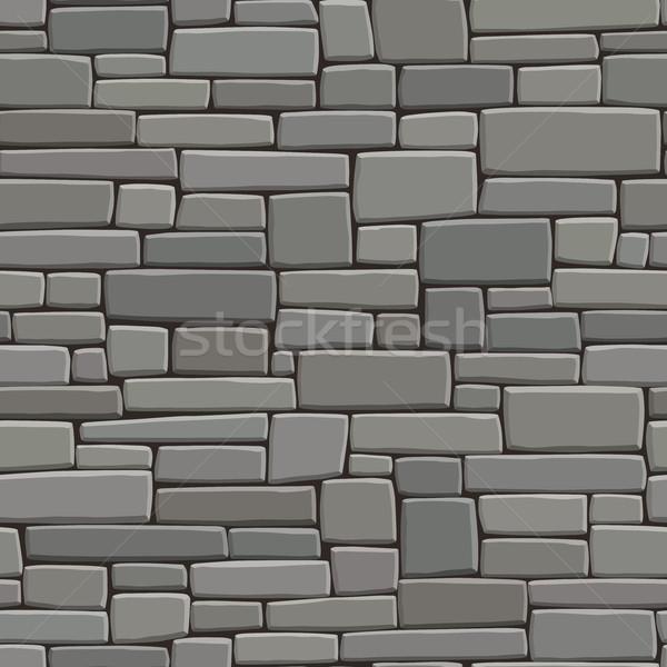 Grau Wand rechteckige Steine Vektor Stock foto © Vertyr