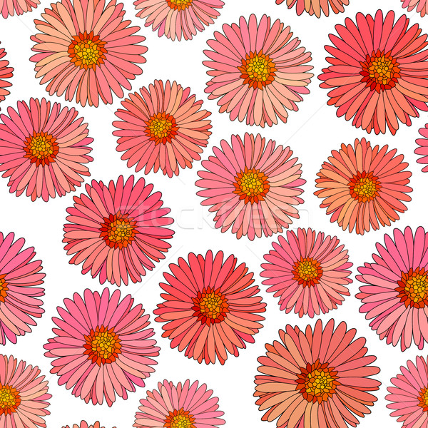 Seamless aster vector background. Stock photo © Vertyr