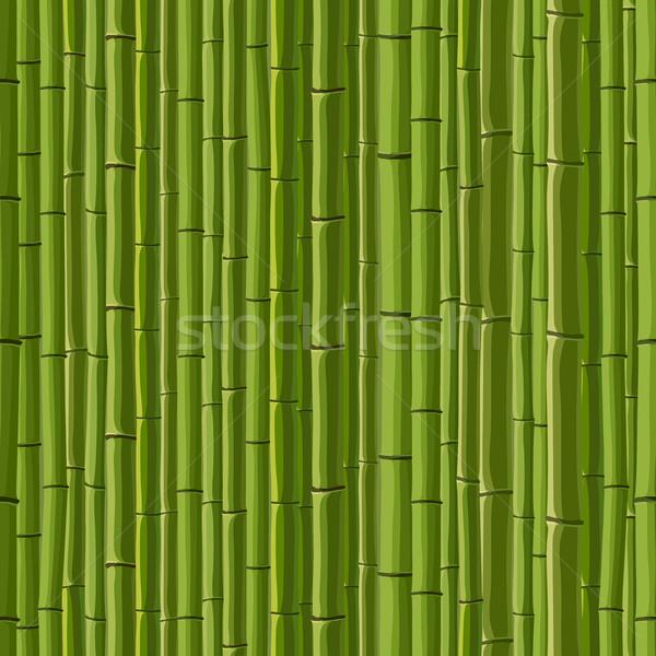 シームレス 緑 壁 竹 漫画 テクスチャ ストックフォト © Vertyr