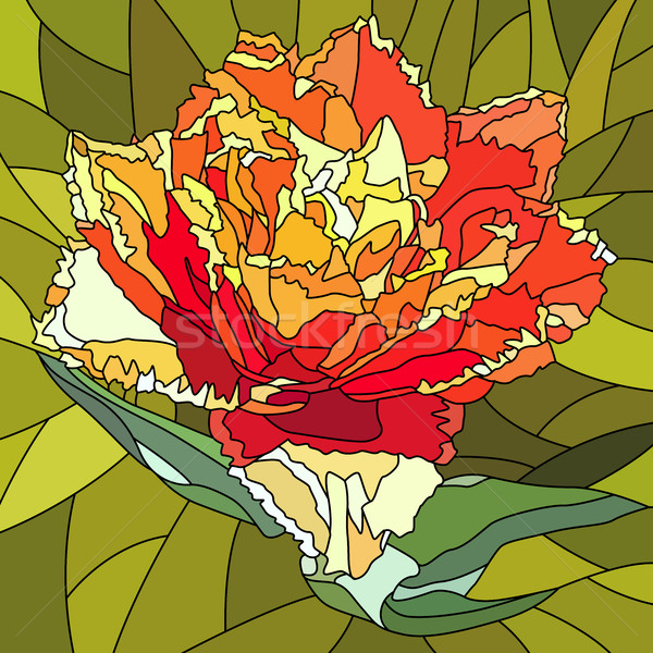Vector illustration of tulip flower. Stock photo © Vertyr