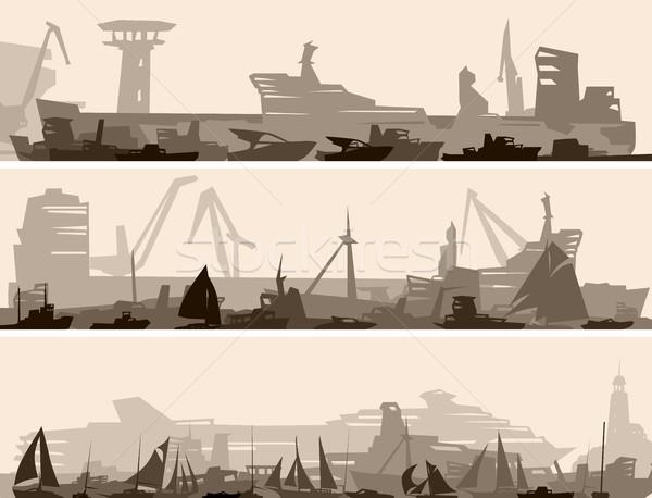 горизонтальный баннер большой порт многие различный Сток-фото © Vertyr