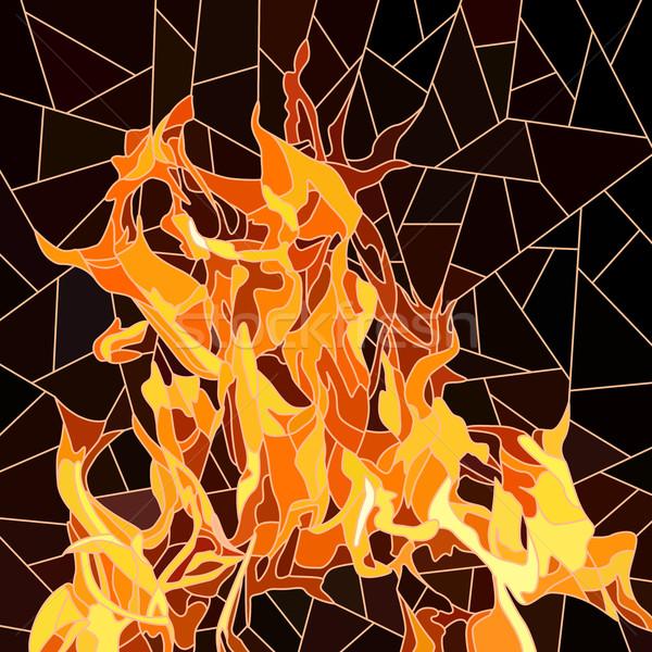 Vector brand mozaiek groot vlam zwarte Stockfoto © Vertyr