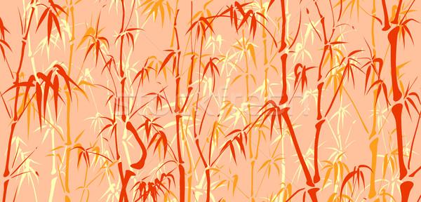 多くの 竹 アジア スタイル 水平な ベクトル ストックフォト © Vertyr