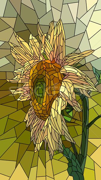 花 黄色 ヒマワリ ベクトル 垂直 モザイク ストックフォト © Vertyr