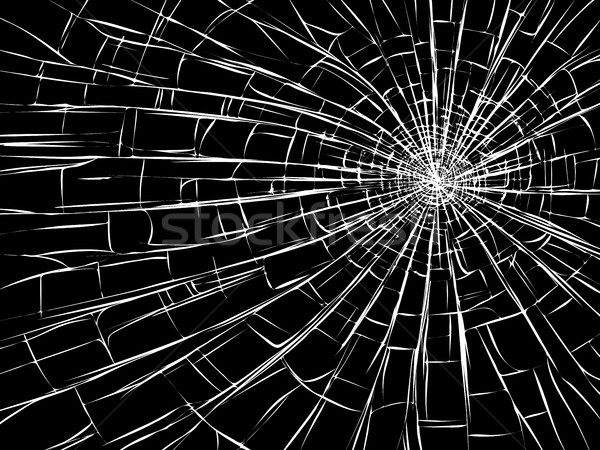 Radial cracks on broken glass. Stock photo © Vertyr