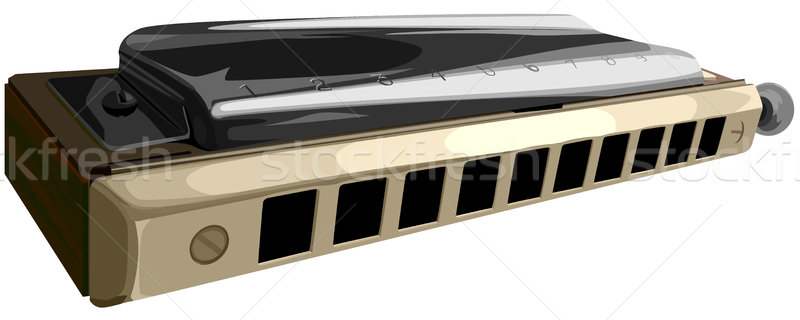 Vector illustration of chromatic harmonica. Stock photo © Vertyr