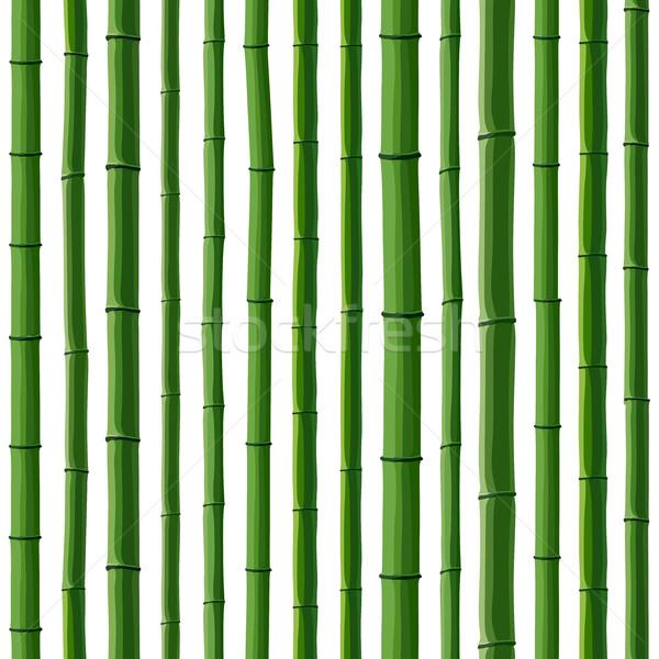 Zdjęcia stock: Bezszwowy · zielone · bambusa · lasu · biały · tekstury