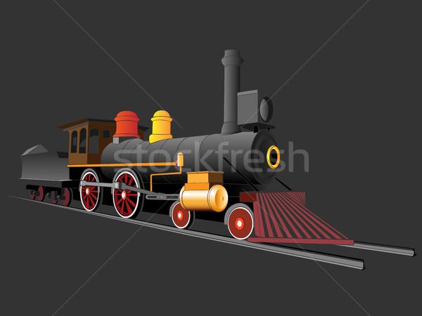 Vieux vapeur train vitesse trafic moteur Photo stock © Vertyr