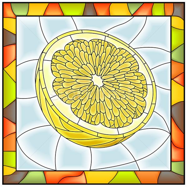 Vector illustration of fruit yellow lemon. Stock photo © Vertyr