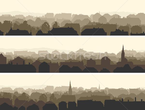 Horizontaal illustratie groot europese stad vector Stockfoto © Vertyr
